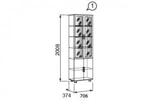 Премьер №1 Шкаф-витрина для документов