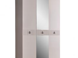 Rimini Solo Шкаф 3-х дв. (с зеркалом) для платья и белья РМШ1/3 (s)