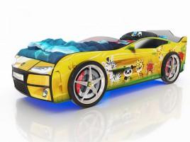 Kiddy Желтая - зверята Кровать-машина