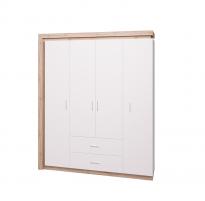 Люмен №16 Шкаф для одежды с ящиками 4-х дверный без зеркал