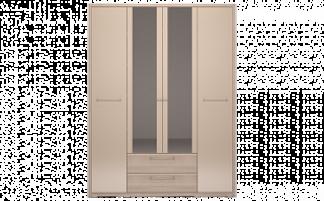 Вива №9 Шкаф 4-х дверный с ящиком с зеркалом