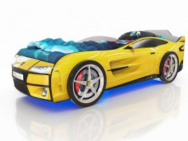 Kiddy Желтая Кровать-машина