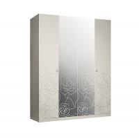 Роза Р1Ш1/4 Шкаф 4-х дверный с зеркалом