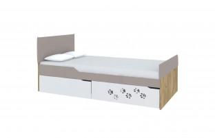 Хаски Кровать с мягкими спинками №3