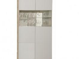 Энни Ш2 шкаф 2-х створчатый со стеклянными дверцами с подсветкой