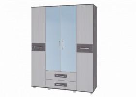 Вега М-1 Шкаф 4-х дверный с зеркалом