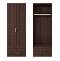 Скандинавия №1 Шкаф для одежды с ящиками 2-х дв. глухой