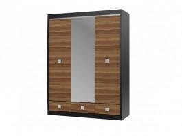 Ксено  Шкаф с зеркалом 3-х дверный с 3-мя ящиками
