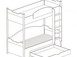Прованс №421 Кровать двухъярусная