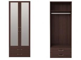 Скандинавия №1 Шкаф для одежды с ящиками 2-х дв. с зеркалом