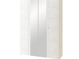 Твист №16 Шкаф для одежды с ящиками 4-х дверный с зеркалом