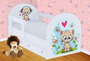 Котенок Кроватка с ящиками и бортиками
