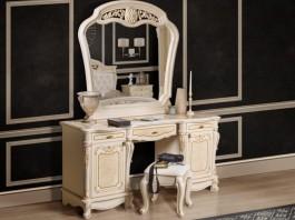 Афина Туалетный стол с зеркалом и пуф