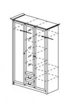 Янна ЯН-05 Шкаф 3-х створчатый с зеркалом