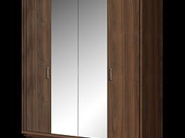 Челси ЧШ1/4 Шкаф 4-х дверный с зеркалом