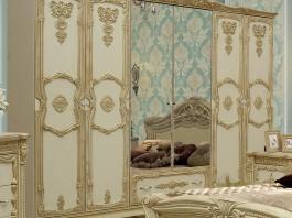 Мона Лиза 04 Шкаф 6-ти створчатый с полками и штангами