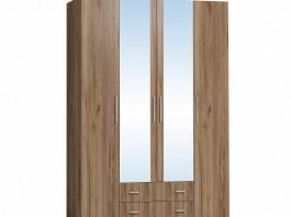 Монако 555 Шкаф для одежды и белья Дуб табачный Craft