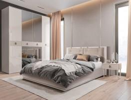 Rimini Solo Кровать 2-х спальная (1,6 м) с подъемным механизмом (Vision) РМКР-3[3]