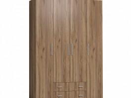 Монако 555 Шкаф для одежды и белья Стандарт Дуб табачный Craft