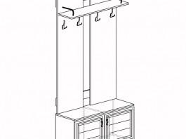 Лира №58 Шкаф для одежды открытый