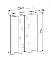 Джулия 26 Шкаф 4-х дверный
