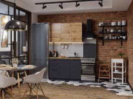 Кухня Акцент-Лофт-2 прямая 1200 мм.