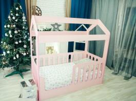Детская кровать-домик ЛДСП с ящиком