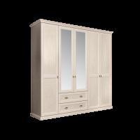 Венеция Шкаф 5-и дверный с зеркалом с выдвижными ящиками