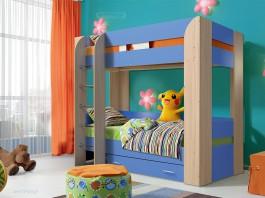 Юниор-6 Кровать двухъярусная с ящиком
