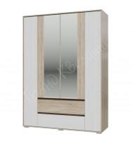 Мальта Шкаф 4-х дверный с ящиками