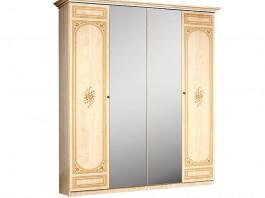Европа 11 Шкаф 4-х дверный с зеркалом