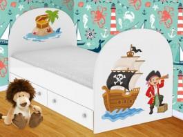 Пираты Кроватка с ящиками