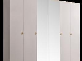 Римини (Rimini) Шкаф 6-ти дв. (с зеркалами) для платья и белья РМШ1/6
