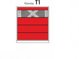 Колледж-Рэд Т1 комод с доводчиком