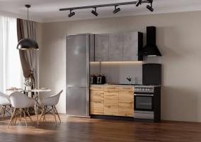Кухня Акцент-Лофт-1 прямая 1900 мм.