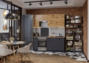 Кухня Акцент-Лофт-2 прямая 1900 мм.