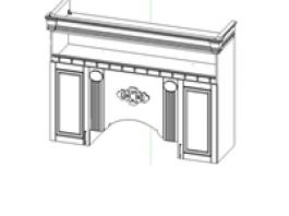 Верона Секция навесная центральная под вытяжку