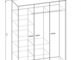 Амели Ш3 шкаф 3-х створч.