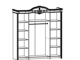 Джоконда Шкаф 4-х дверный крем глянец