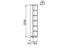 Премьер №6 Шкаф-стеллаж для документов