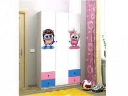 Совята 3.1 Шкаф 3-х дверный с ящиками и зеркалом