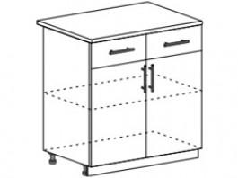 Ксения ШН1Я 800 шкаф нижний с 2 ящиками и створками