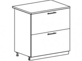 Ксения ШН2Я 800 шкаф нижний с 2 ящиками