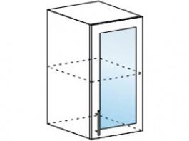 Ксения ШВС 400 шкаф верхний со стеклом