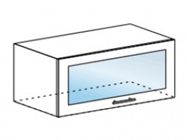 Ксения ШВГС 800 шкаф горизонтальный со стеклом