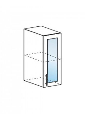 Юлия ШВС 300 шкаф верхний со стеклом