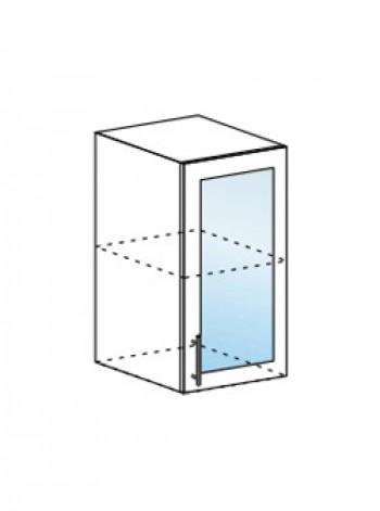 Юлия ШВС 400 шкаф верхний со стеклом