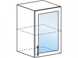 Юлия ШВС 500 шкаф верхний со стеклом