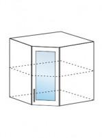 Юлия ШВУС 550 шкаф верхний угловой со стеклом